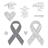 Ruban de courage Clear-Mount Stamp Set (French)