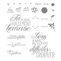 Adorables amis Photopolymer Stamp Set (French)