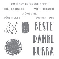 Beste Grüße Clear-Mount Stamp Set (German)