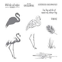 Flamingo-Fantasie Photopolymer Stamp Set (French)