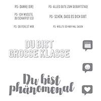 Post mit PS Clear-Mount Stamp Set (German)