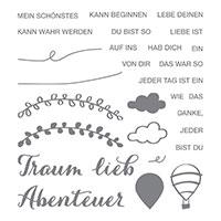 Lebe deinen Traum Photopolymer Stamp Set (German)