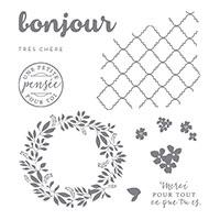 Bonjour très chère Clear-Mount Stamp Set (French)