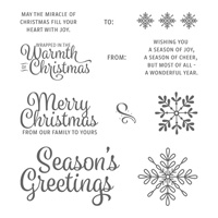 Snowflake Sentiments Clear-Mount Stamp Set