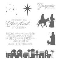 Heilige Nacht Clear-Mount Stamp Set (German)