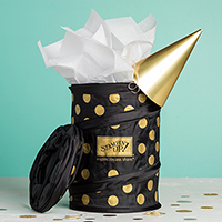 Gold Polka Dot Scrap Bin
