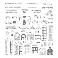 En ville Photopolymer Stamp Set (French)
