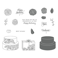 Cake Soirée Wood-Mount Stamp Set
