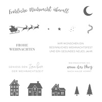 Weihnachten daheim Clear-Mount Stamp Set (German)