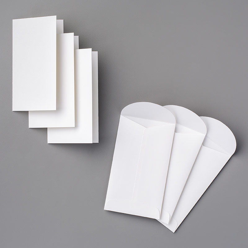 Whisper White Narrow Note Cards & Envelopes