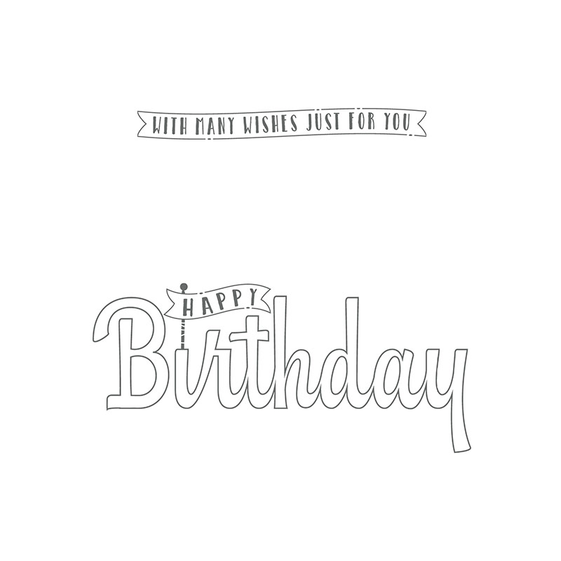 Birthday Wishes for You Clear-Mount Stamp Set