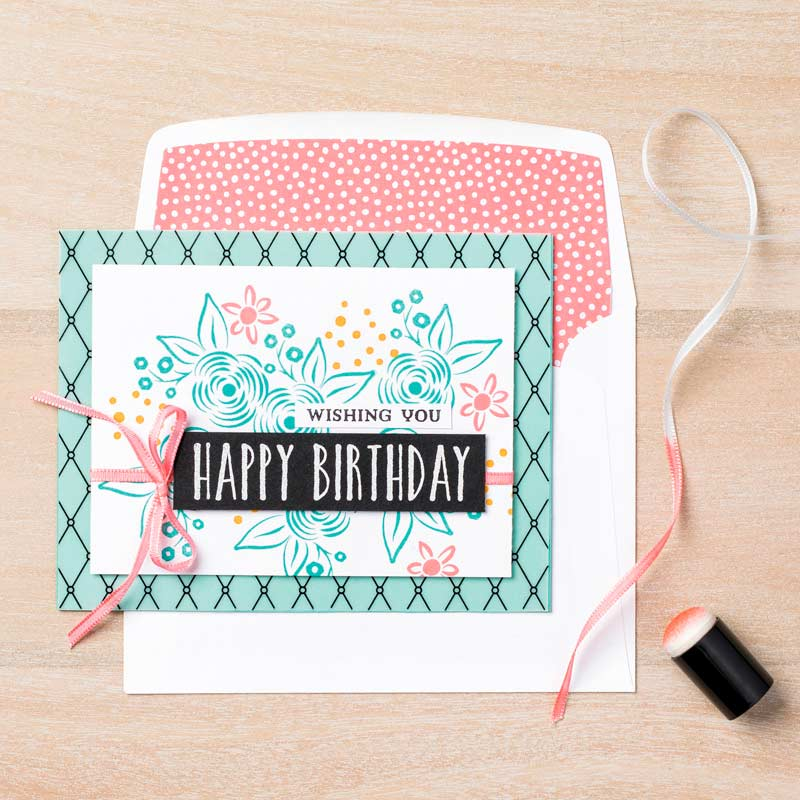 happy birthday message stamps