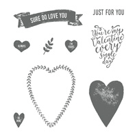 Sure Do Love You Wood-Mount Stamp Set
