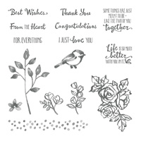 Petal Palette Wood-Mount Stamp Set