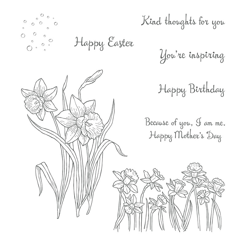 Easter Mother's Day daffodil stamps