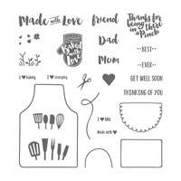 love apron stamp set