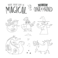 Magical Day Wood-Mount Stamp Set
