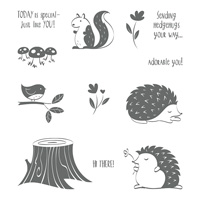 Hedgehugs Wood-Mount Stamp Set