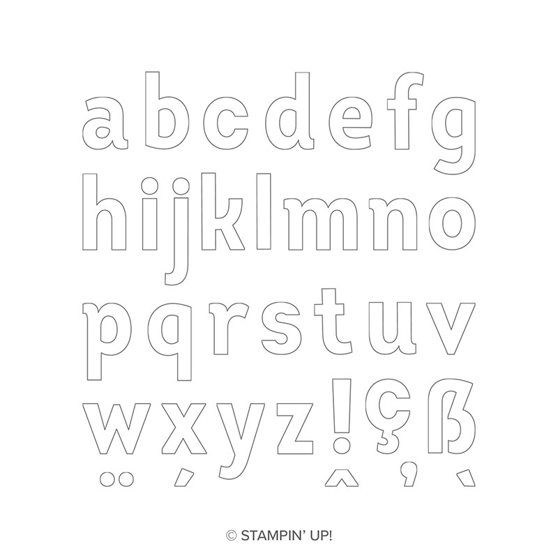 Lined Alphabet Photopolymer Stamp Set