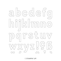 large letters stamp set