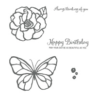 stained glass flower and butterfly stamps