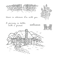 Cozy Cottage Wood-Mount Stamp Set