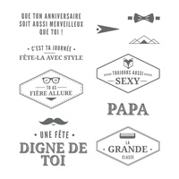 Bien soigné Clear-Mount Stamp Set (French)