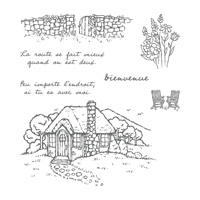 Chaumière tranquille Clear-Mount Stamp Set (French)