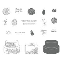 Gâteau élégant Clear-Mount Stamp Set (French)
