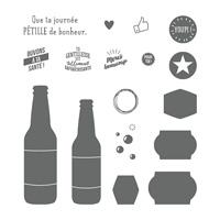 Pétillant de Bonheur Photopolymer Stamp Set (French)