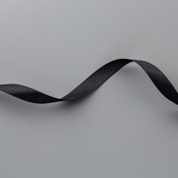 Black 1/2 (1.3 cm) Satin Ribbon