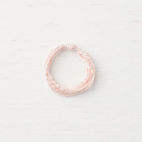 silver and pink twine