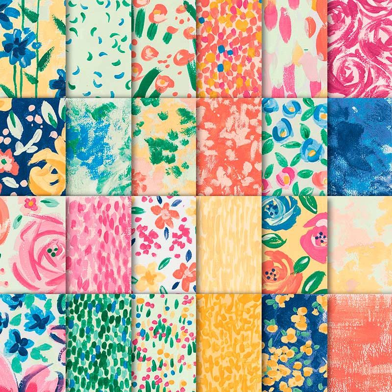 colorful floral paper