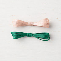 one pink one green ribbon