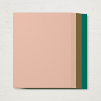 pink, brown, and green paper