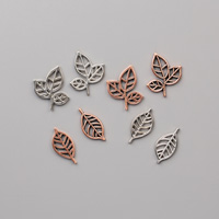 metallic leaf trinkets