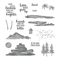 lakes trees stamps