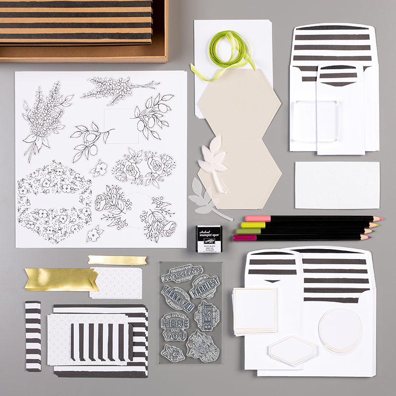 black and white card kit