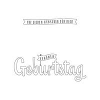 Geburtstagswünsche für dich Clear-Mount Stamp Set (German)