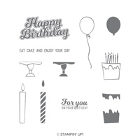 birthday candles stamp set