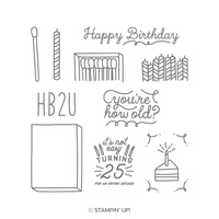 birthday 25 stamp set