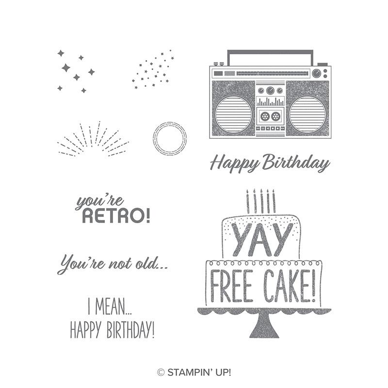 Free Cake Clear-Mount Stamp Set