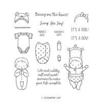 Sweet Baby Wood-Mount Stamp Set