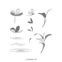 flowers pond stamp set