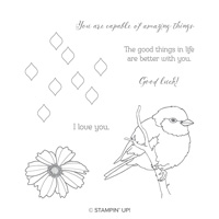bird flower stamps