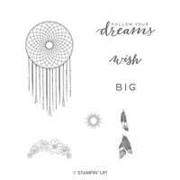 Follow Your Dreams Wood-Mount Stamp Set