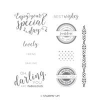 messages doilies stamps