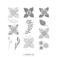 Pop Of Petals Wood-Mount Stamp Set
