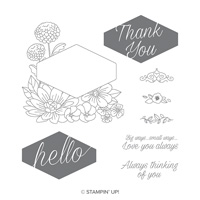 Accented Blooms Wood-Mount Stamp Set