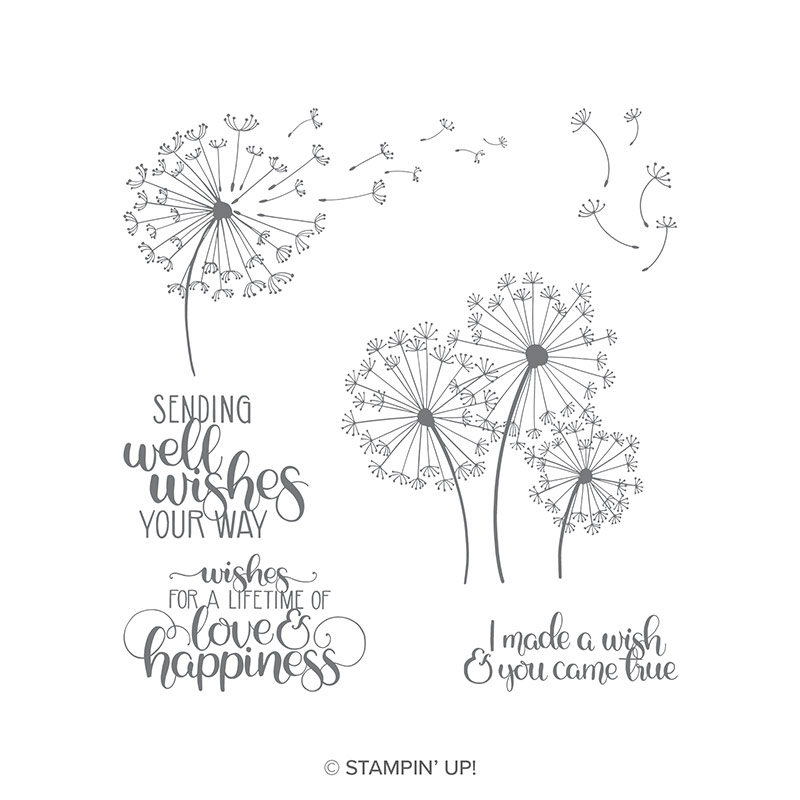 dandelion wish stamps